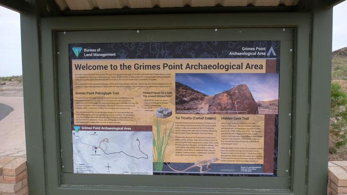 Dann sind wir am Grimes Point.....