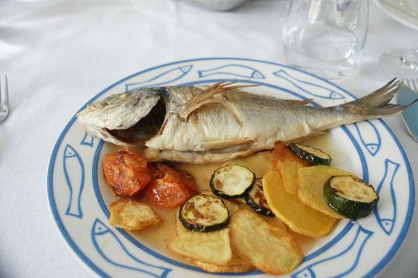 ... und feinen Fisch danach.
