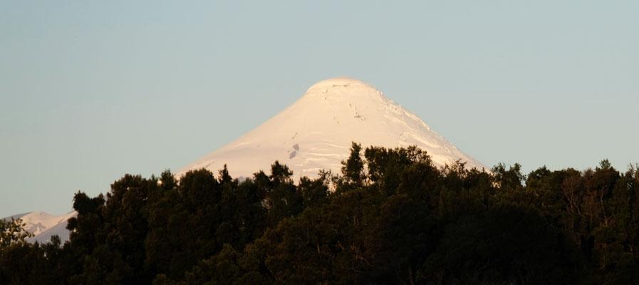 Der Osorno Vulkan im Hintergrund