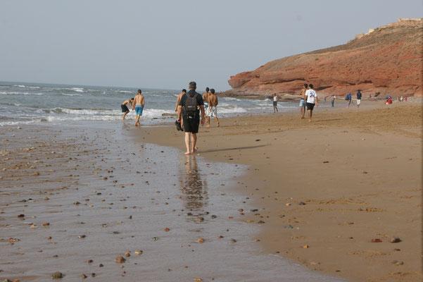 Strandwanderung wie immer mit Rucksack