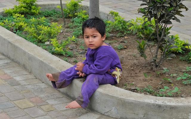 Der kleine wartet entspannt auf seine Mama