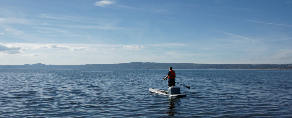 Alois auf und davon auf dem Lago di Bolsena