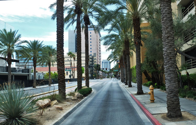 Doch im Zentrum von Vegas sind die Strassen leer