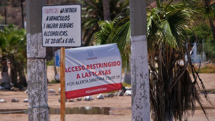 am Strand aufhalten verboten
