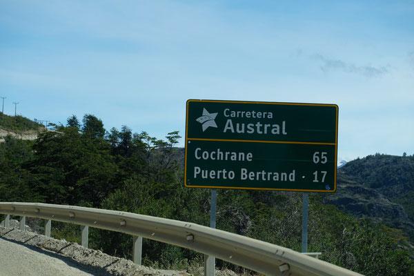 Wir treffen auf die Ruta 7 und wenden uns nach Süden.