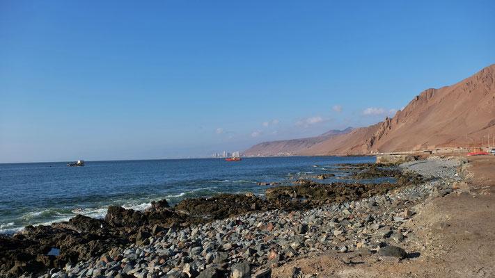 Blick von Süden auf Antofagasta