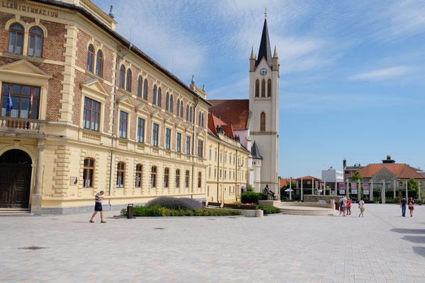 Im Zentrum von Keszthely grosse Plätze