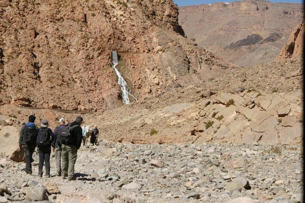 Wasserfall hörten wir schon von Weitem