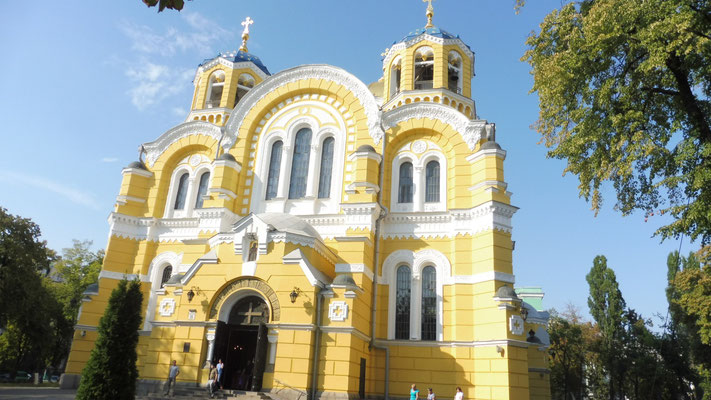 Die Wolodymir Kathedrale einmal von aussen....