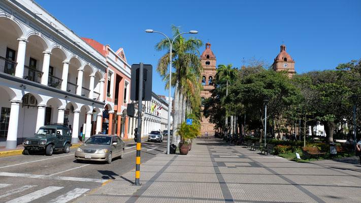 Das historische Zentrum von Santa Cruz.