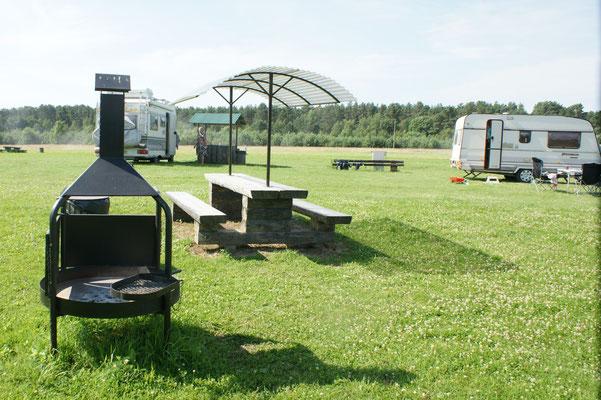 Grillplätze auf dem Campingplatz