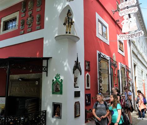 Das  Puppenmuseum im Zentrum von Keszthely