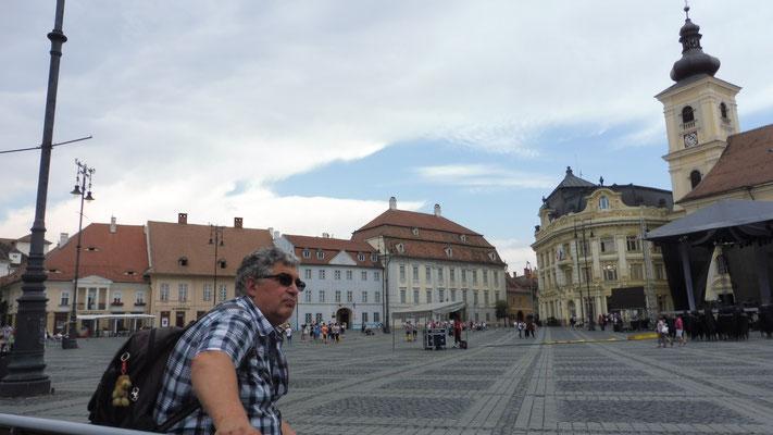 Sibiu Altstadt auf dem Hauptplatz