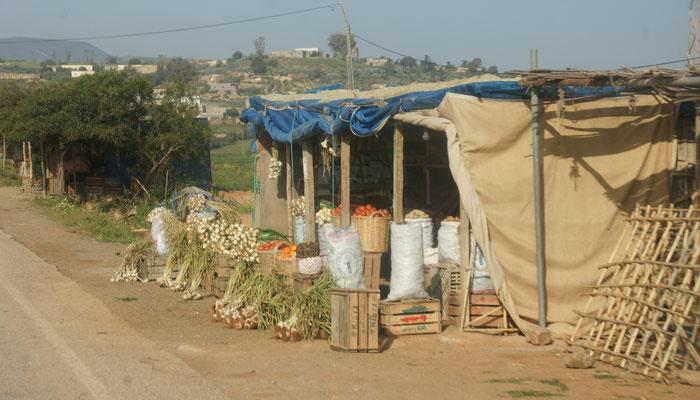 Gemüseverkauf im Rifgebirge