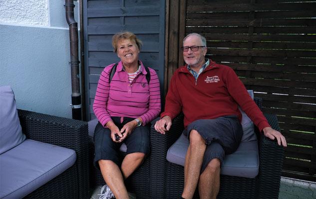 Andrea und Jürgen. Sie warten seit März 20, auf dass sie zu ihrem Camper in Ecuador zurück kehren können