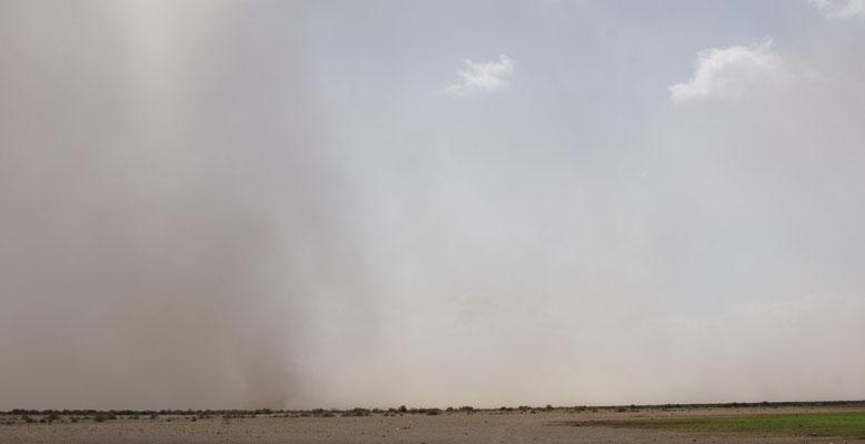 Wieder mal einen Sandsturm