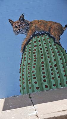 Auch in Arizona lustige Wandmalereien