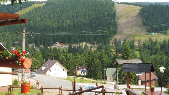 und im Skigebiet