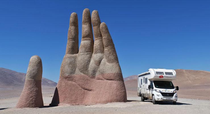 Mano del desierto vor Antofagasta