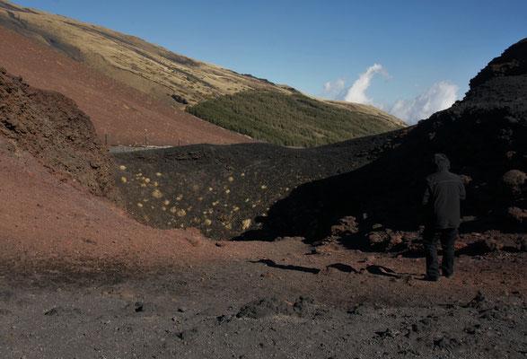 Verschiedene Krater können besichtigt werden