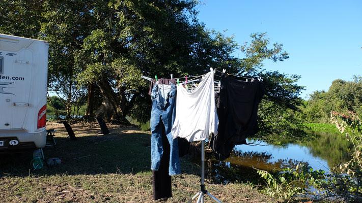 Die Wäsche muss ja auch mal wieder erledigt werden.