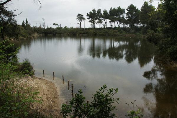 Der andere See in Portonovo und schon regnet es