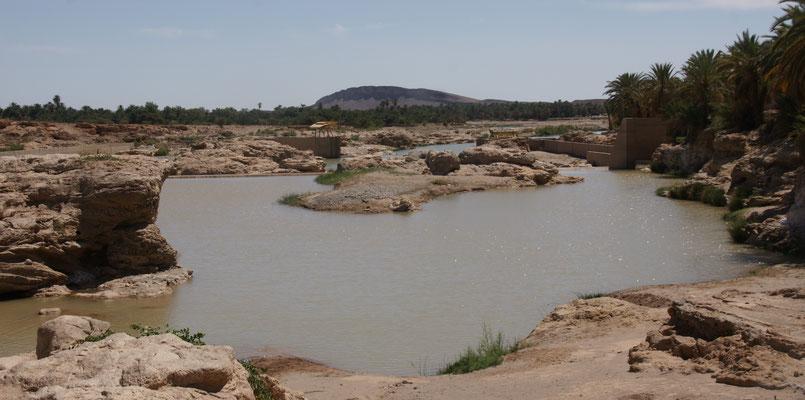 Der kleine See bei Tissent. Da salzig, baden möglich ohne Gefahr Bilharziose einzufangen.