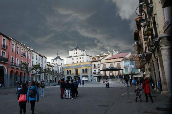 Schnell in die Altstadt von Aranda de Duero und schnell wieder zurück zum Camper
