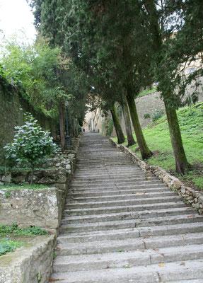 Treppe hoch nach Volterra