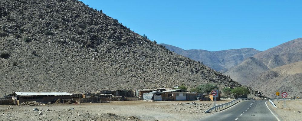 kleine Weiler auf der Strecke und ziemlich viele Minen
