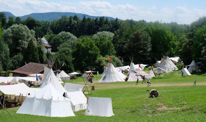 """Das Camp in Nenzingen der ganz """" echten"""" Indianer und Tramper"""