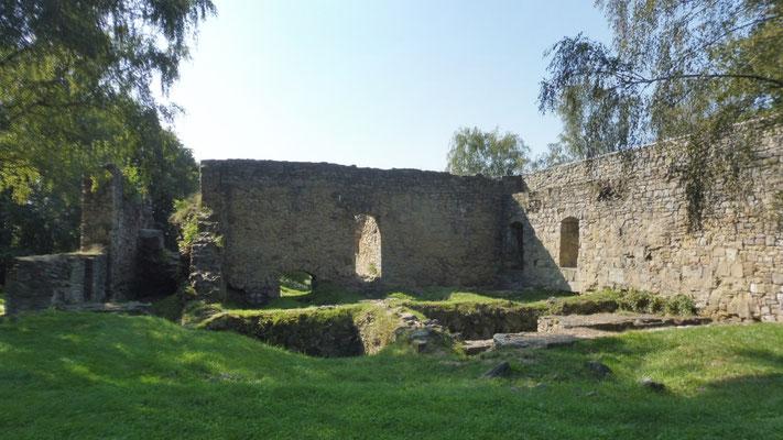 Die Ruine der Burg von Nowy Sacz