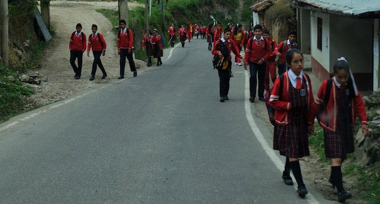 Die Schule beginnt in Leimabamba