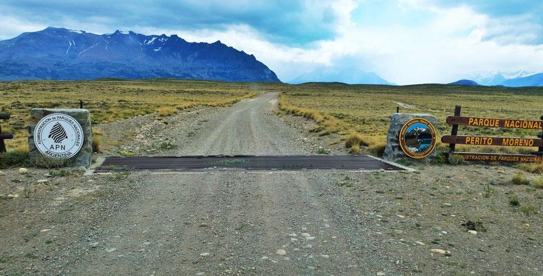 Wir erreichen den Nationalpark Perito Moreno