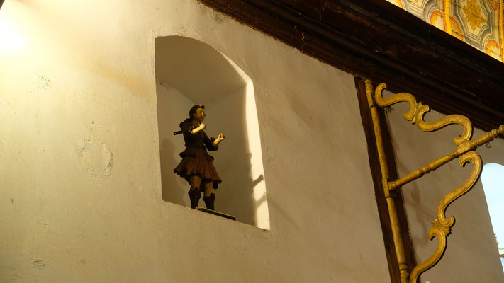 Der Portugiesische Künstler, der das Innere der Kirche entworfen hat.