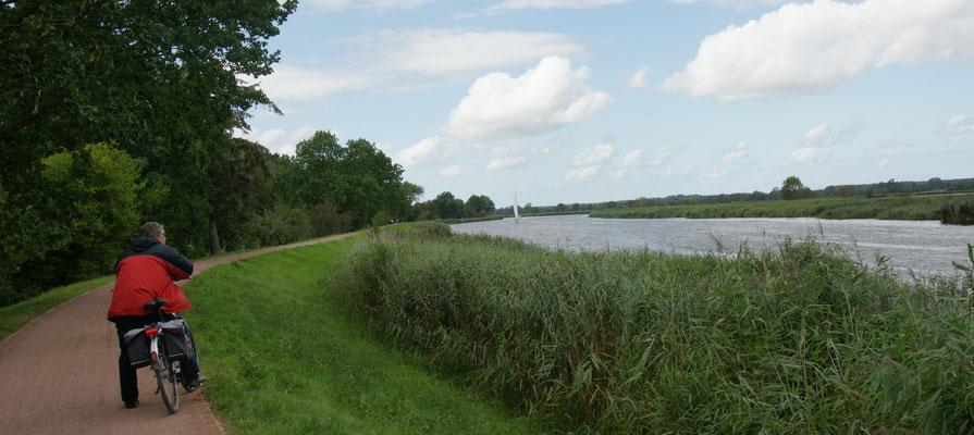 Zurück  nach Greifswald mit Gegenwind