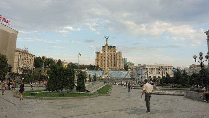 Der Majdanplatz in Kiew