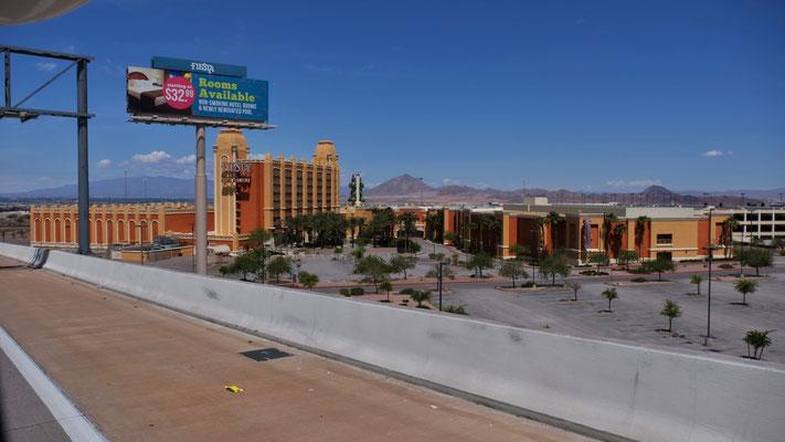 ... mit den geschlossenen Hotels und Casinos
