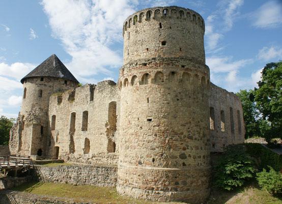 Ein Blick zurück auf die Burg