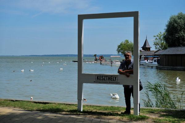 Am Strand von Keszthely ......