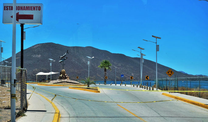 Auch in Topalabamba ist der Malecon noch gesperrt.