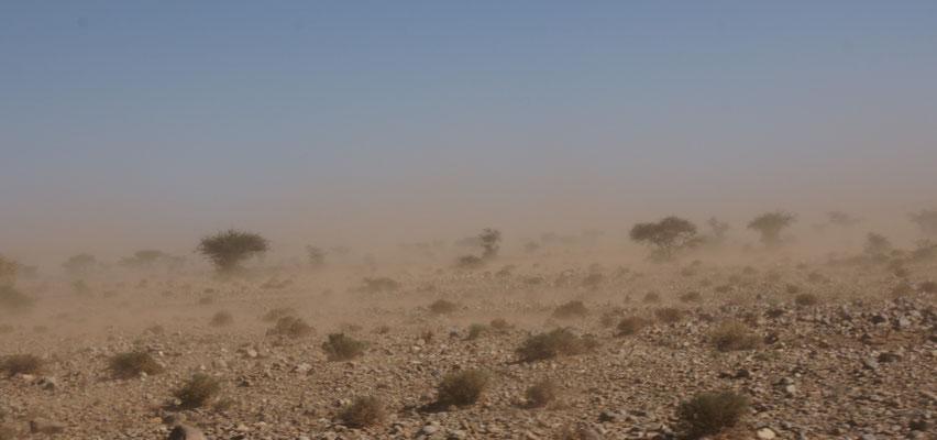 Auch auf der Strecke zwischen Icht und Tata immer mal wieder viel Sand