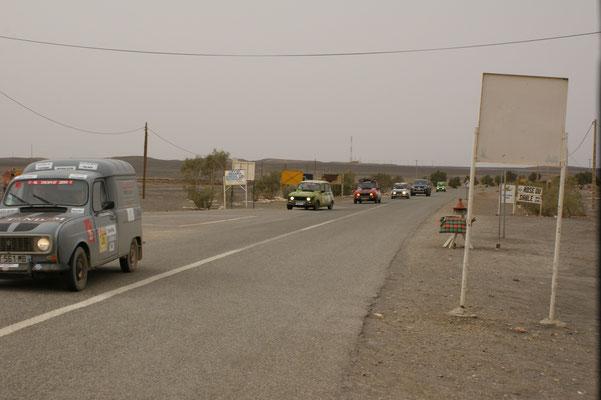 Die Rallyfahrer haben ihre heutige Tour beendet