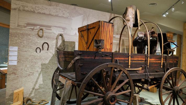Auch sein Camper wird im Buffalo Bill Museum aufbewahrt