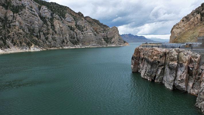 Blick auf den See vom Buffalo Bill Dam....