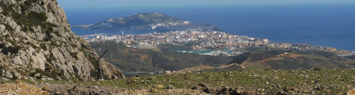 Blick zurück auf Ceuta