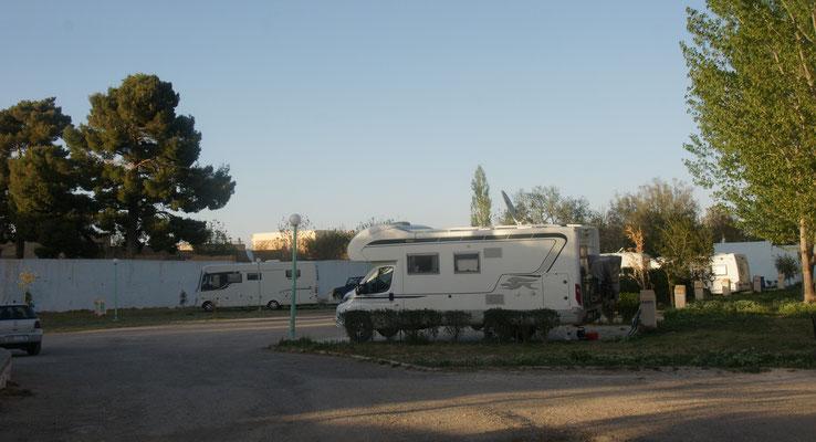 Der sehr gepflegte Campinplatz in Midelt.