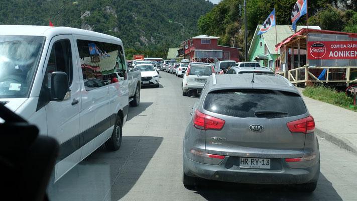 Ein Vorgeschmack auf den Verkehr in Puerto Montt