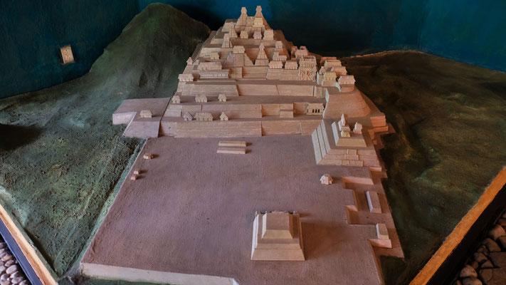 Im Museum gibt es ein Modell der Anlage