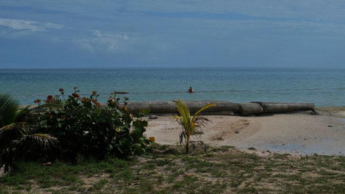 ... bei Chetumal noch ein Bad in der Karibik zu nehmen.